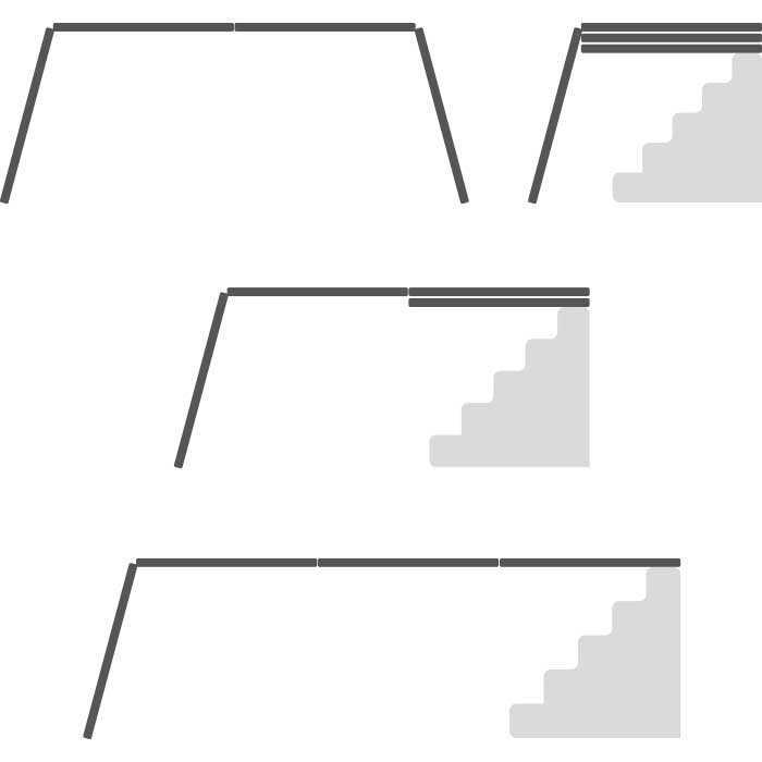Craftworx Aluminium Multifunktionsleiter 6 in 1